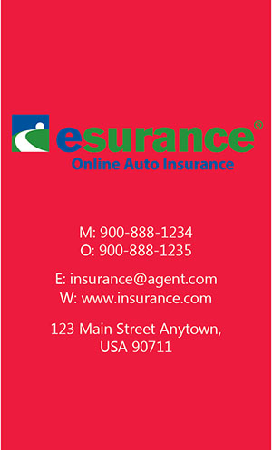 Red Esurance Business Card - Design #204043
