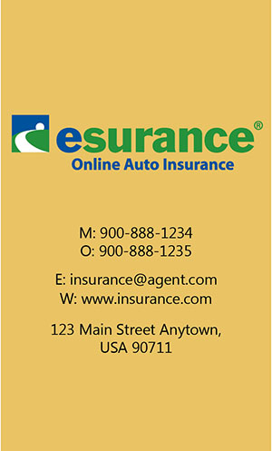 Yellow Esurance Business Card - Design #204044