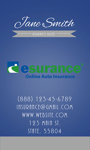 Blue Esurance Business Card - Design #204053