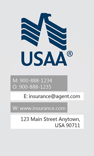 White USAA Business Card - Design #205011