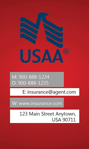 Red USAA Business Card - Design #205012