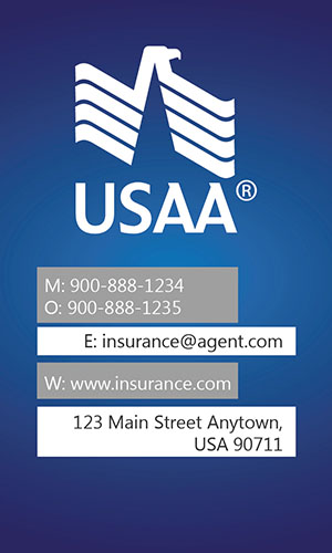 Blue USAA Business Card - Design #205013