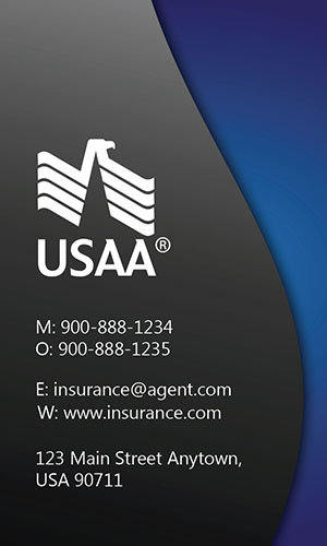 Blue USAA Business Card - Design #205022