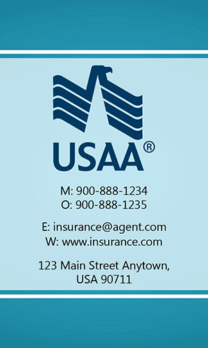 Blue USAA Business Card - Design #205031
