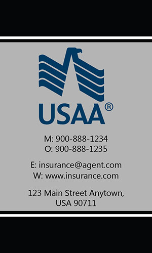 Black USAA Business Card - Design #205032