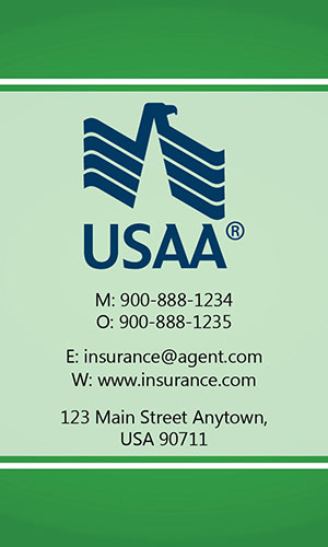 Green USAA Business Card - Design #205033