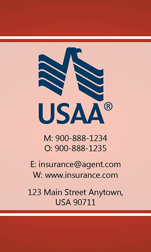 Red USAA Business Card - Design #205034