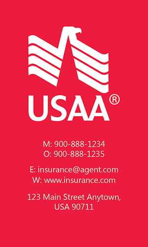 Red USAA Business Card - Design #205043