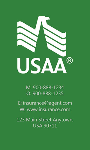 Green USAA Business Card - Design #205044