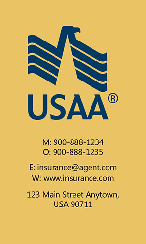 Yellow USAA Business Card - Design #205045