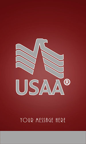 Red USAA Business Card - Design #205053