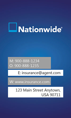 Blue Nationwide Business Card - Design #206012