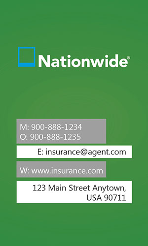 Green Nationwide Business Card - Design #206013