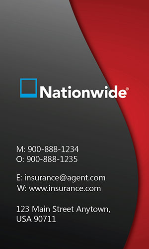 Red Nationwide Business Card - Design #206021