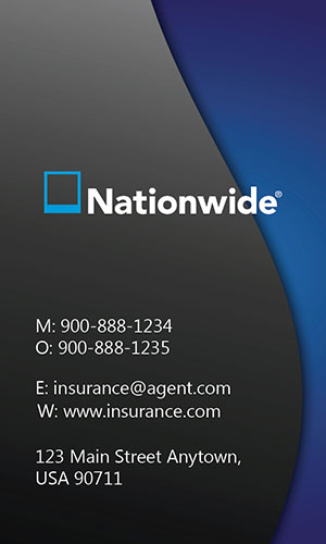 Blue Nationwide Business Card - Design #206023