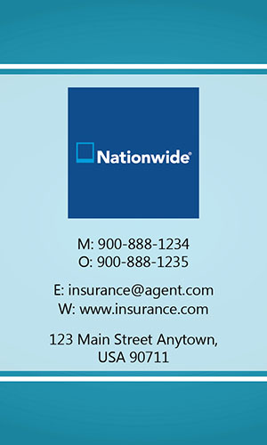 Blue Nationwide Business Card - Design #206031
