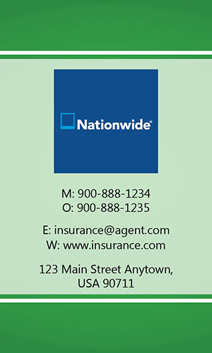 Green Nationwide Business Card - Design #206032