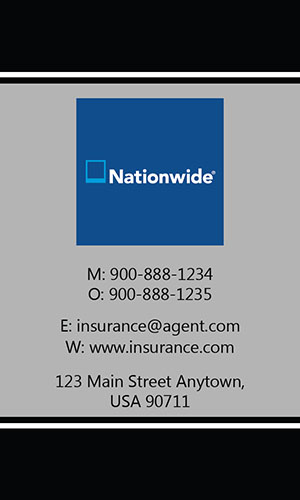 Black Nationwide Business Card - Design #206033