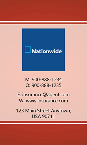 Red Nationwide Business Card - Design #206034