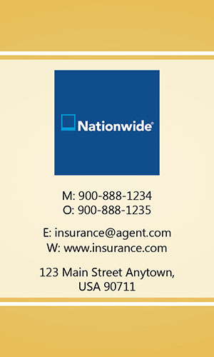 Yellow Nationwide Business Card - Design #206035