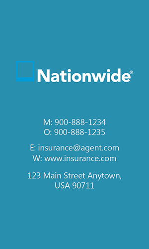 Blue Nationwide Business Card - Design #206043