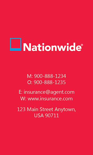 Red Nationwide Business Card - Design #206044