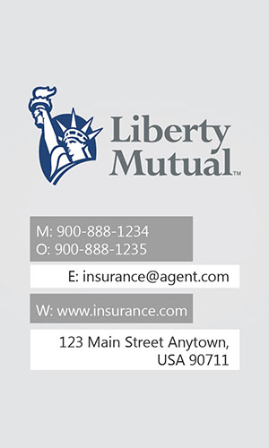 White Liberty Mutual Business Card - Design #207011
