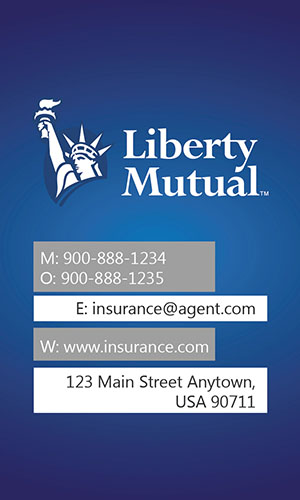 Blue Liberty Mutual Business Card - Design #207012