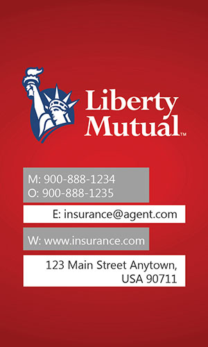 Red Liberty Mutual Business Card - Design #207013