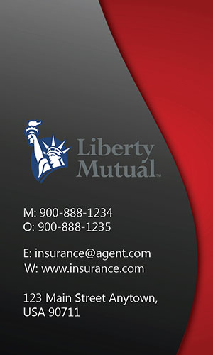 Red Liberty Mutual Business Card - Design #207021
