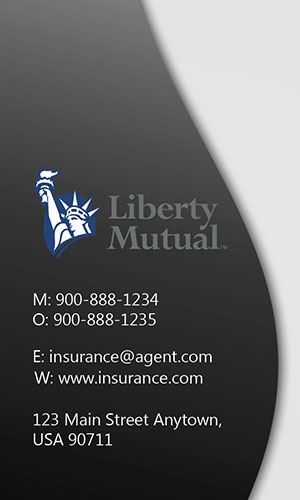 White Liberty Mutual Business Card - Design #207022