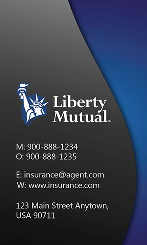 Blue Liberty Mutual Business Card - Design #207023