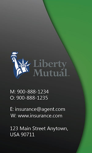 Green Liberty Mutual Business Card - Design #207024