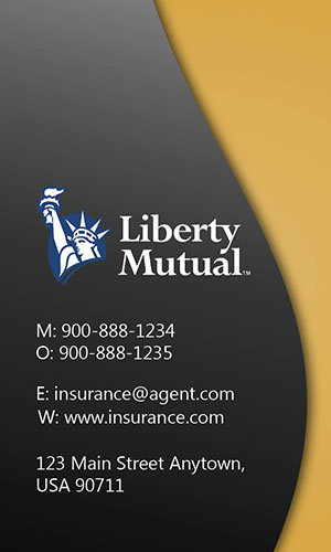 Yellow Liberty Mutual Business Card - Design #207025