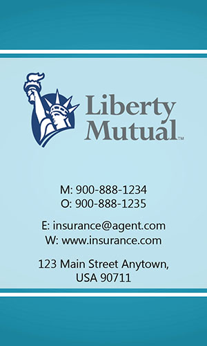 Blue Liberty Mutual Business Card - Design #207031