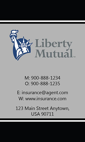 Black Liberty Mutual Business Card - Design #207033