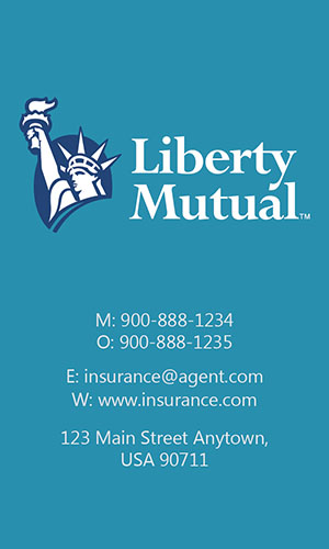 Blue Liberty Mutual Business Card - Design #207043