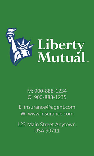Green Liberty Mutual Business Card - Design #207044