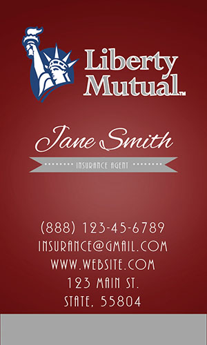 Red Liberty Mutual Business Card - Design #207052