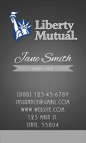 Gray Liberty Mutual Business Card - Design #207054