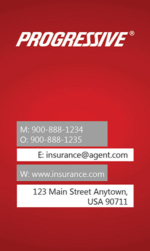 Red Progressive Business Card - Design #208012