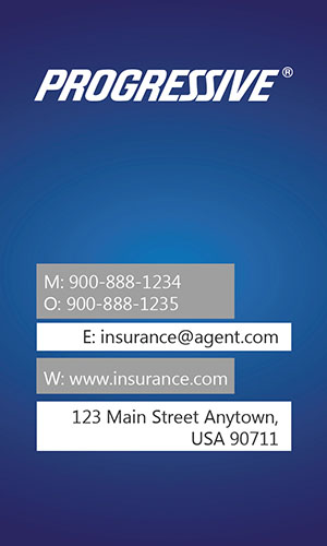 Blue Progressive Business Card - Design #208013