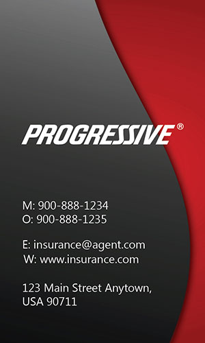 Red Progressive Business Card - Design #208021