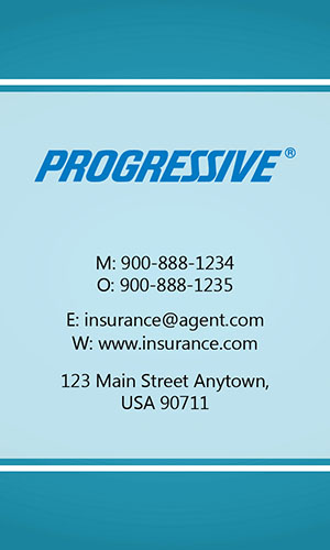 Blue Progressive Business Card - Design #208031