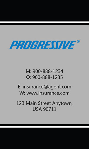 Black Progressive Business Card - Design #208032