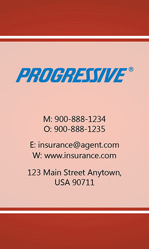 Red Progressive Business Card - Design #208033