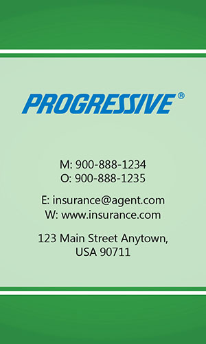 Green Progressive Business Card - Design #208034