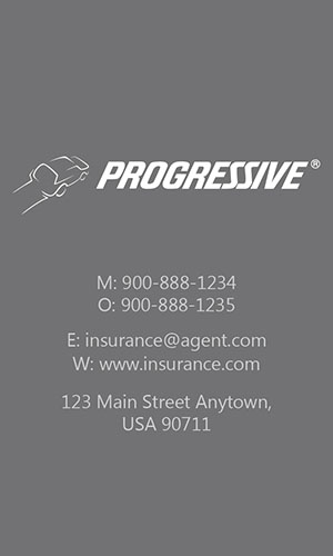 Gray Progressive Business Card - Design #208041