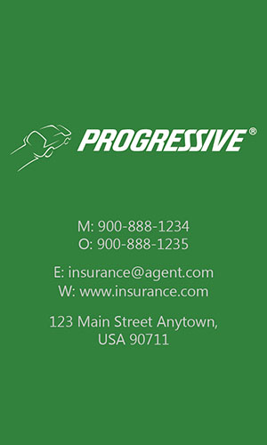 Green Progressive Business Card - Design #208042