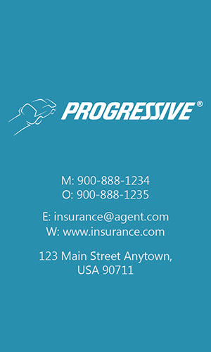Blue Progressive Business Card - Design #208043